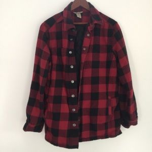 DULUTH Red & Black Flannel Top Quilted Lining Warm
